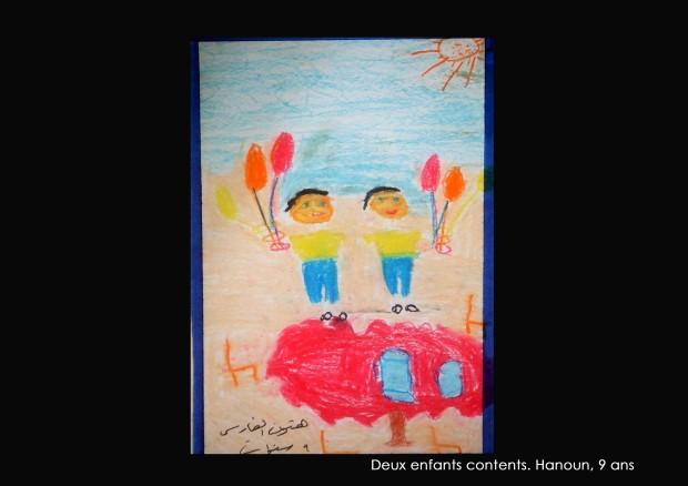 10-Deux enfants contents, Hanoun 9 ans
