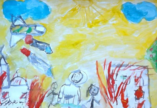 19-Un avion bombarde les enfants, Haya