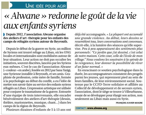article La Croix 27-05-2014