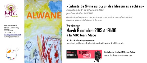 Invitation vernissage ALWANE - dessins enfants syriens (002)