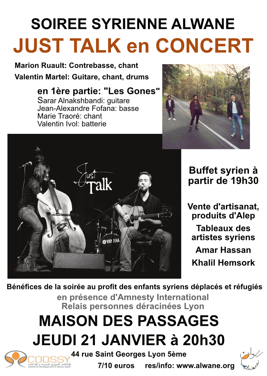 Just Talk en concert au profit d'Alwane