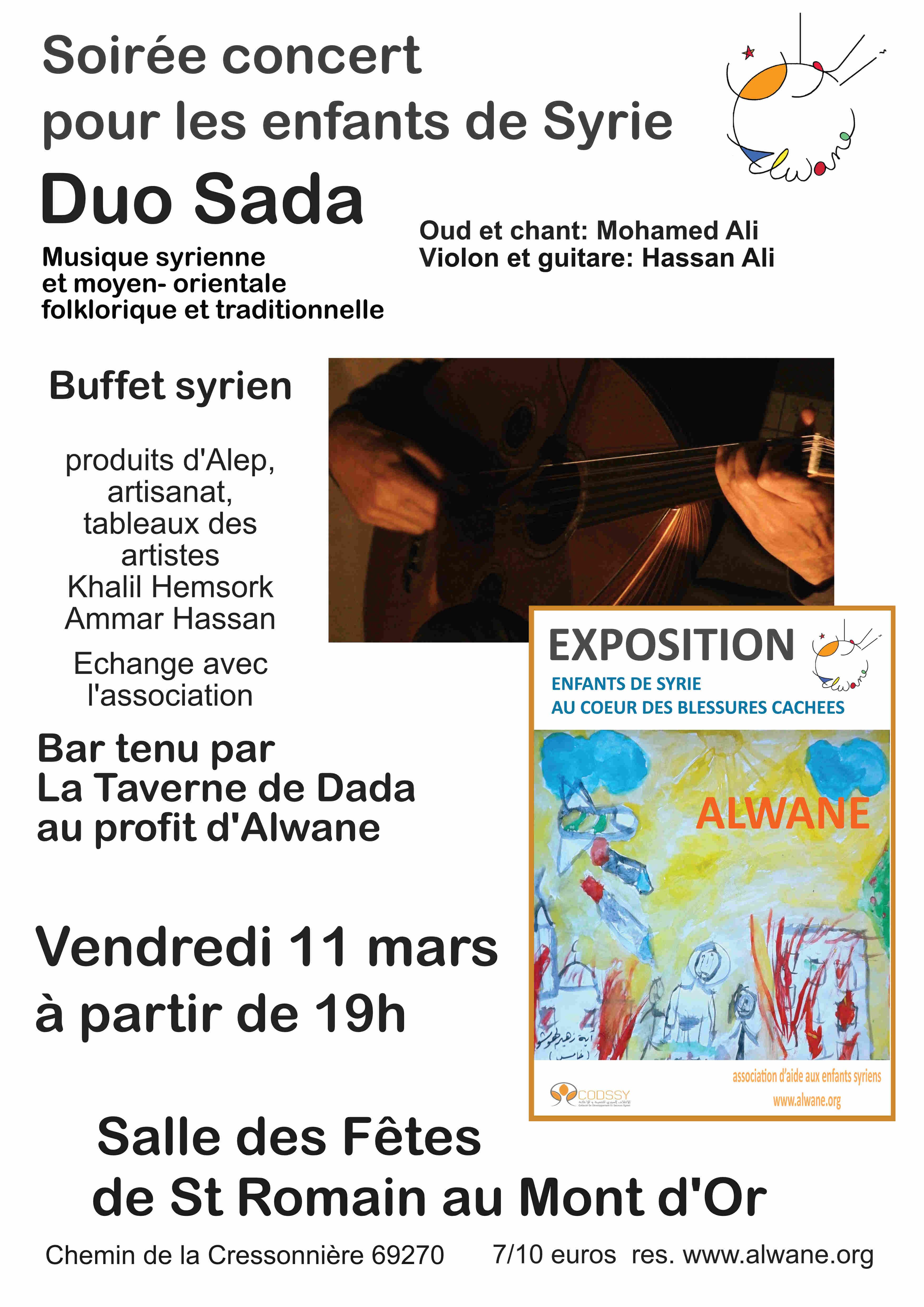 Soirée concert Duo Sada, au profit des enfants de Syrie