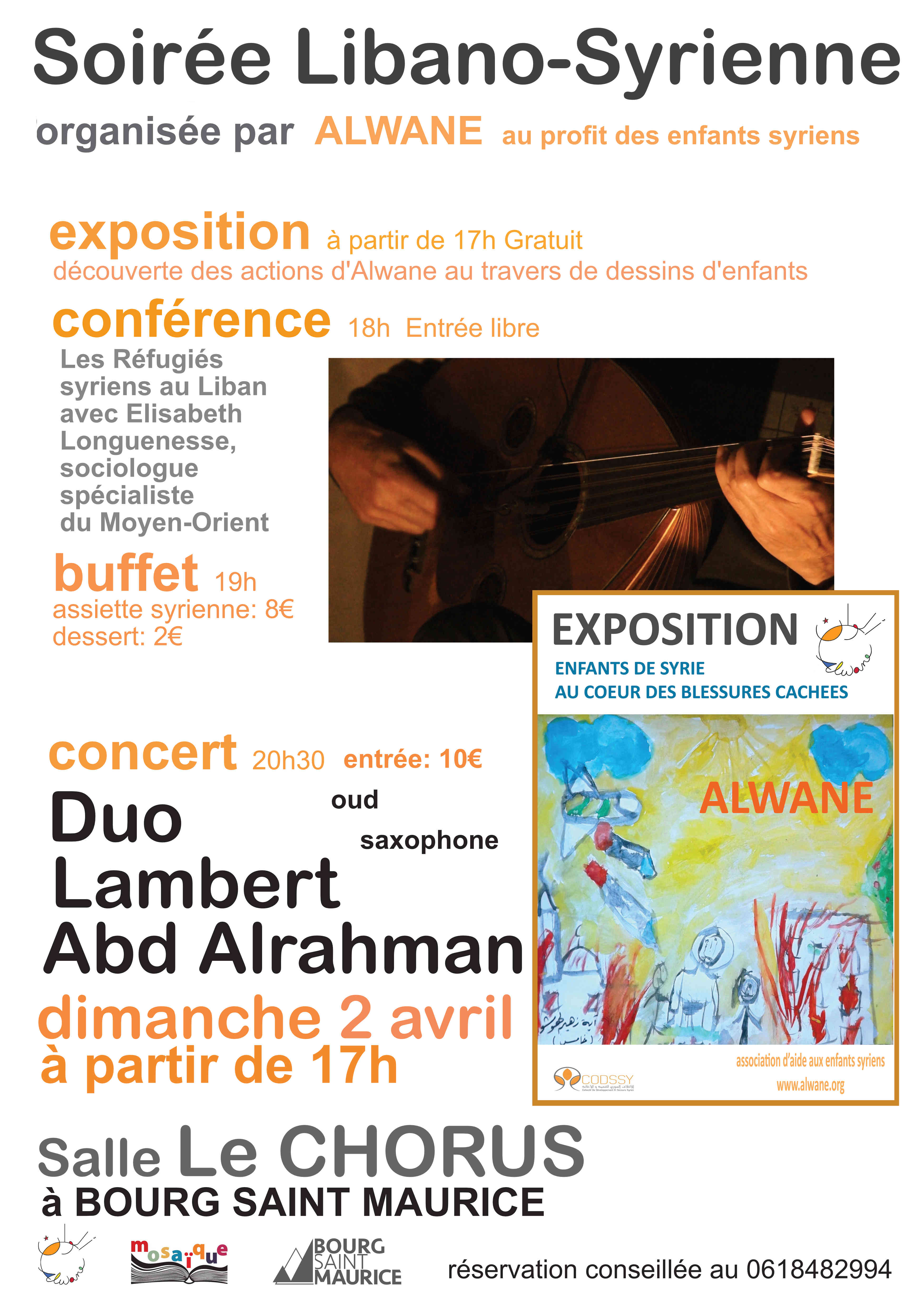 Soirée Syrienne à Bourg Saint Maurice Expo, conférence, concert