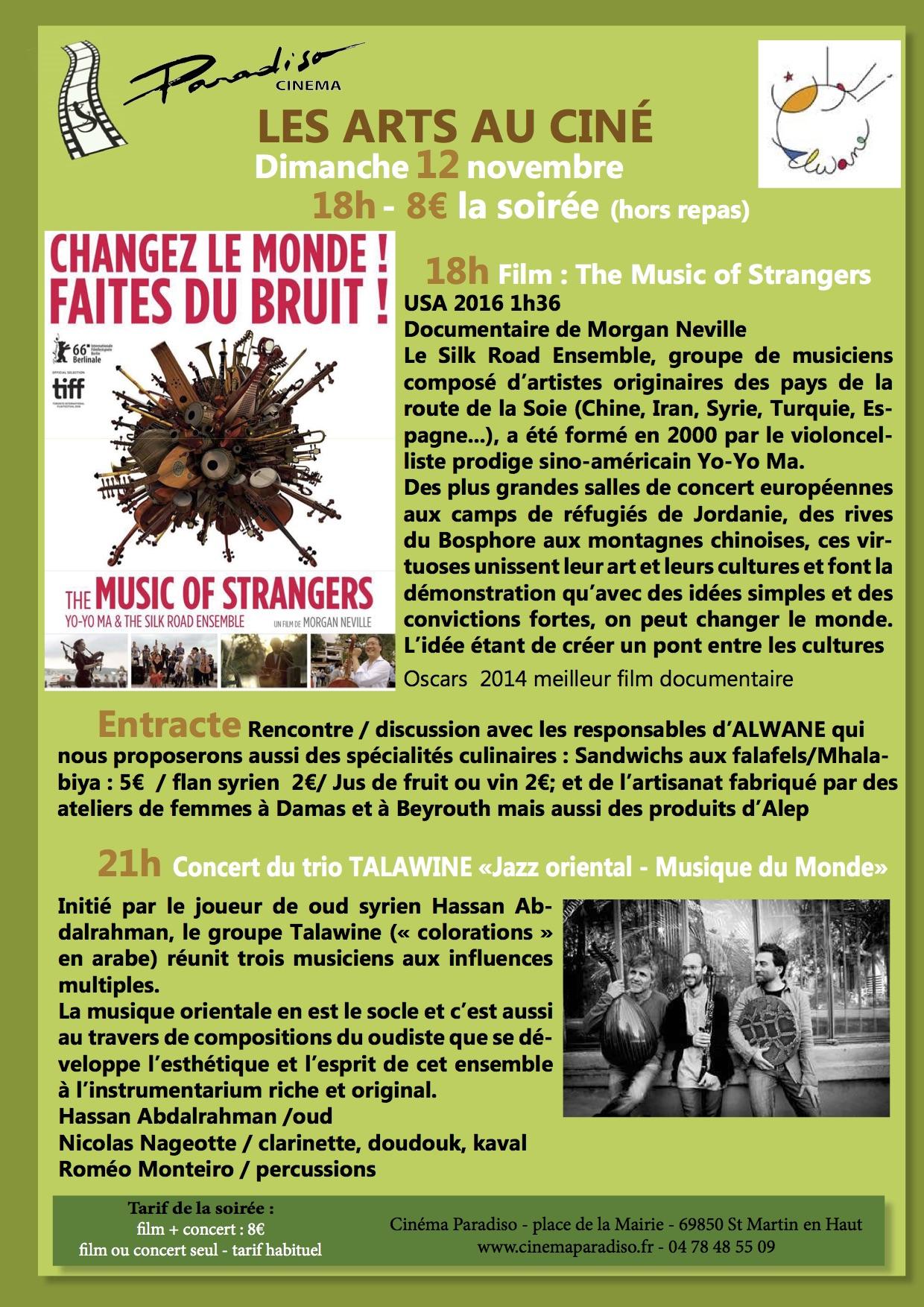 Les Arts au ciné  Film+Concert Talawine
