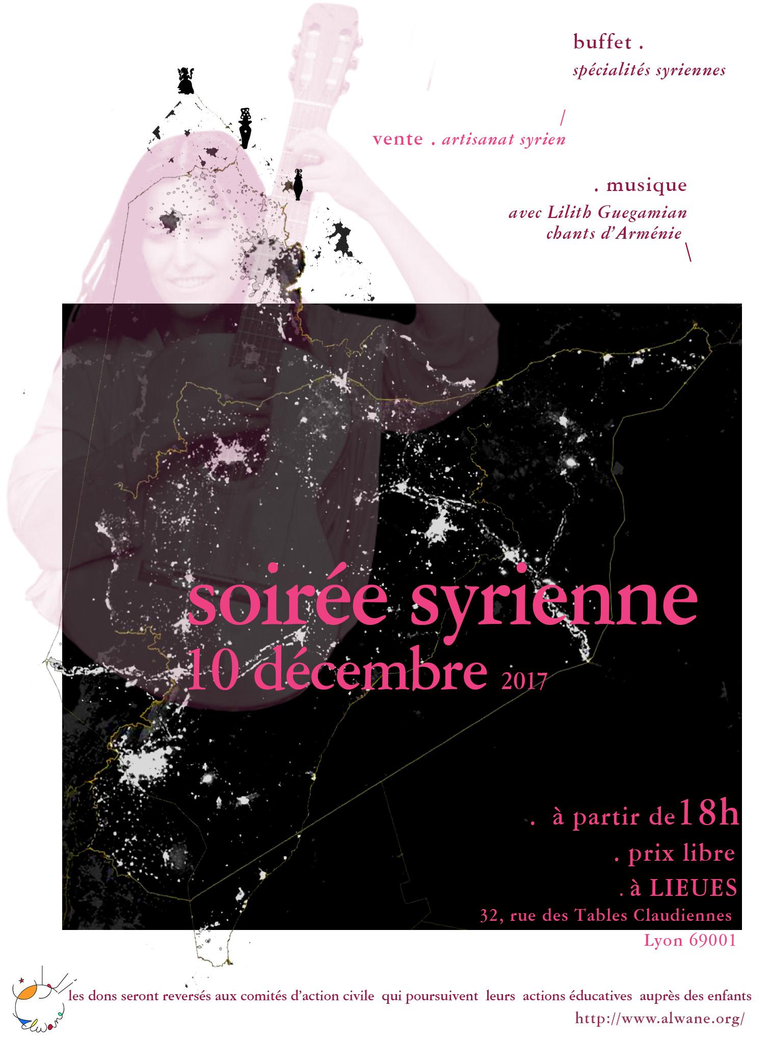 Soirée syrienne concert Lilith Guegamian