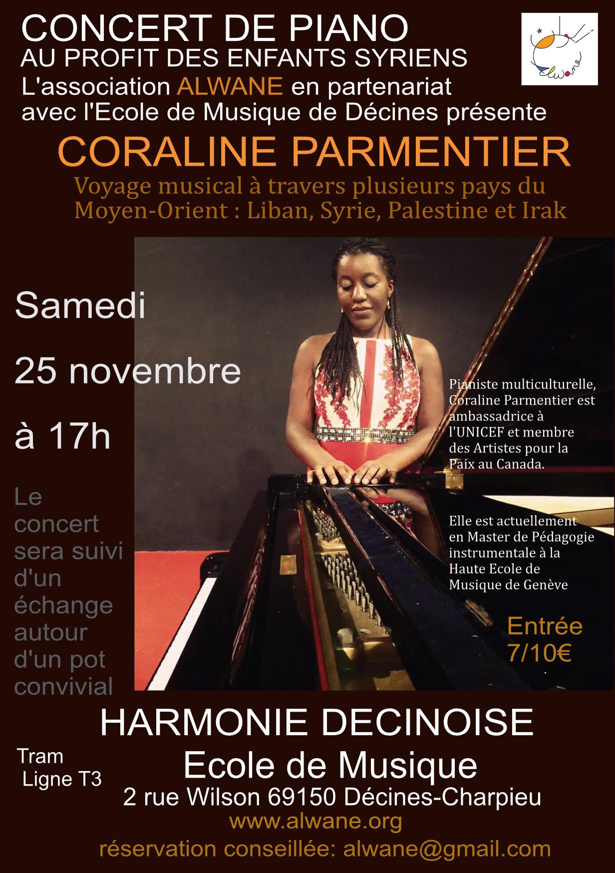 Concert de piano Coraline Parmentier