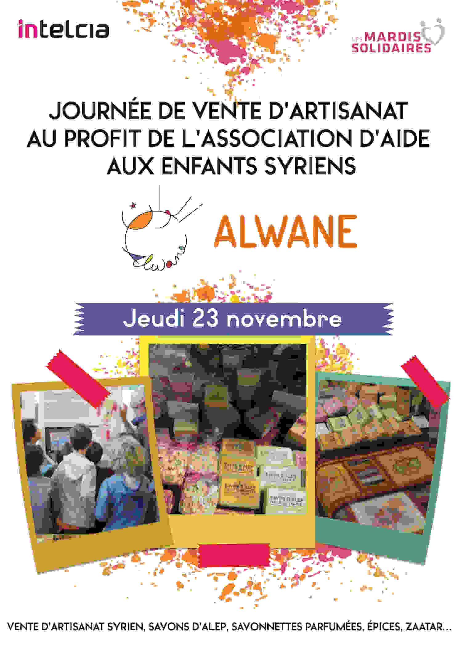 Vente d'artisanat syrien à Intelcia