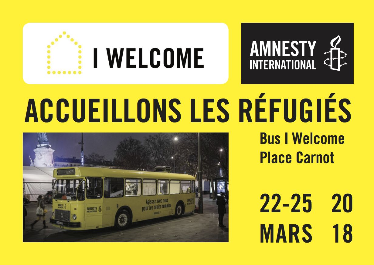 Bus I welcome Amnesty International du 22 au 25 mars