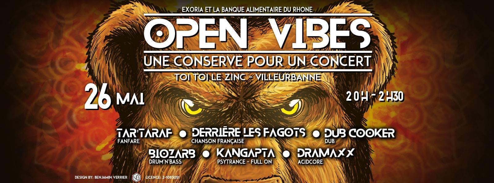 Open Vibes une conserve pour un concert