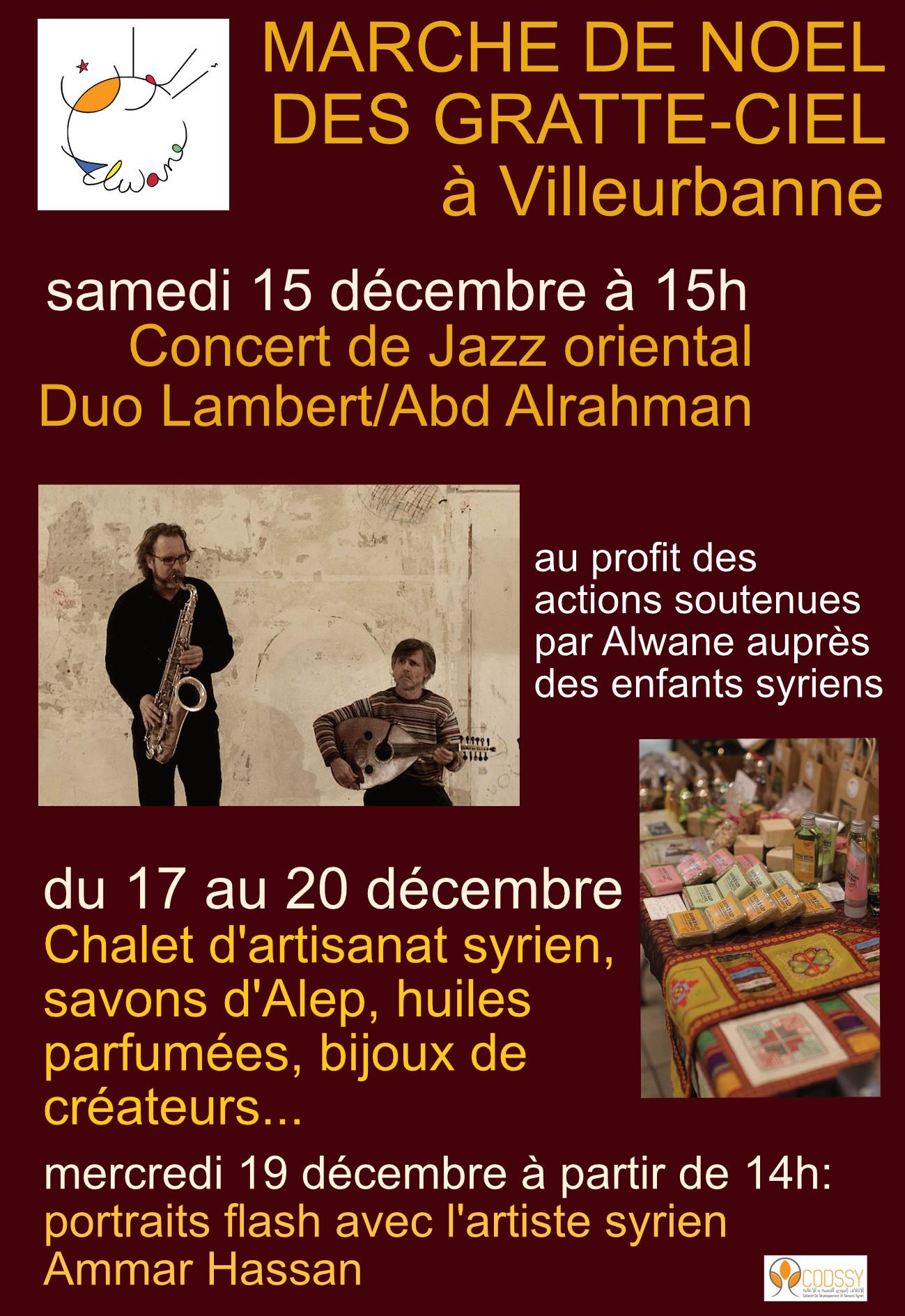 Concert Duo Lambert/Abd Alrahman au Marché de Noël de Villeurbanne