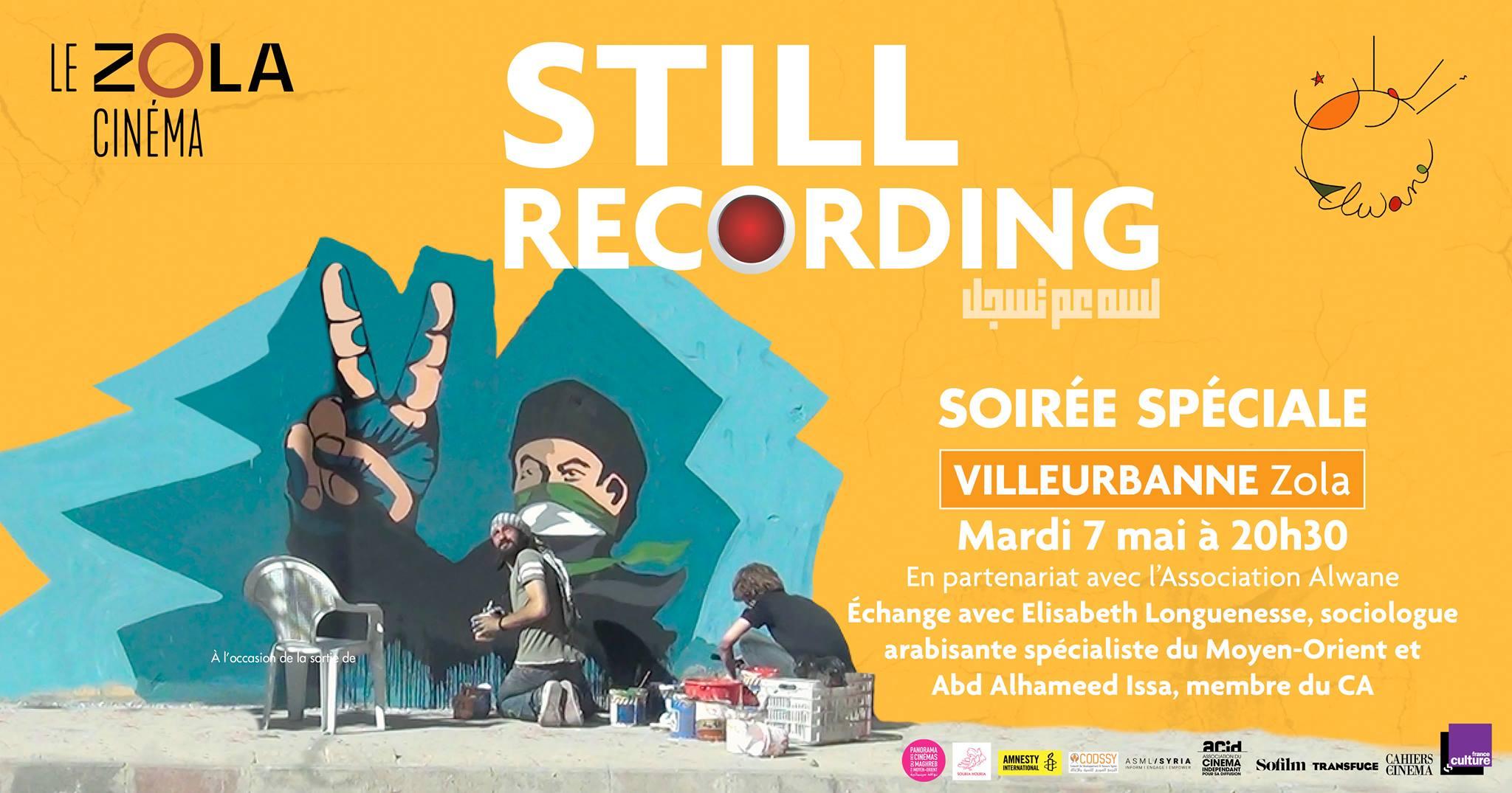 Projection-Débat Still Recording au cinéma Le Zola