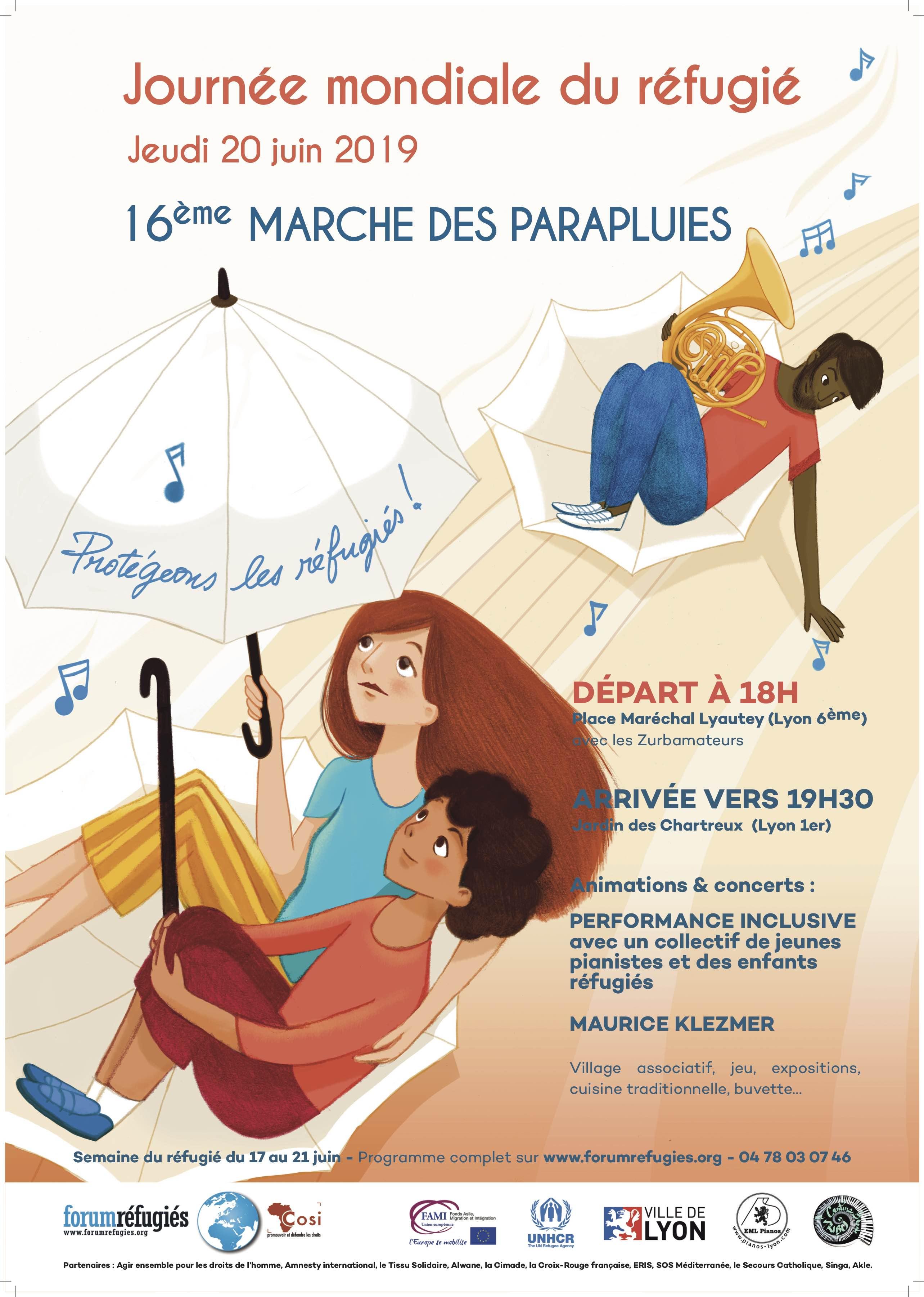 16ème Marche des Parapluies  Journée Mondiale du Réfugié