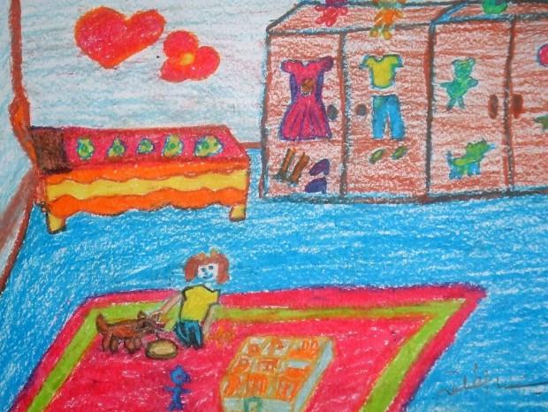 13 La chambre des enfants, Christina 12 ans