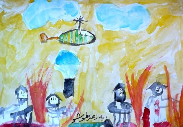20-Un avion bombarde les révolutionnaires, Haya