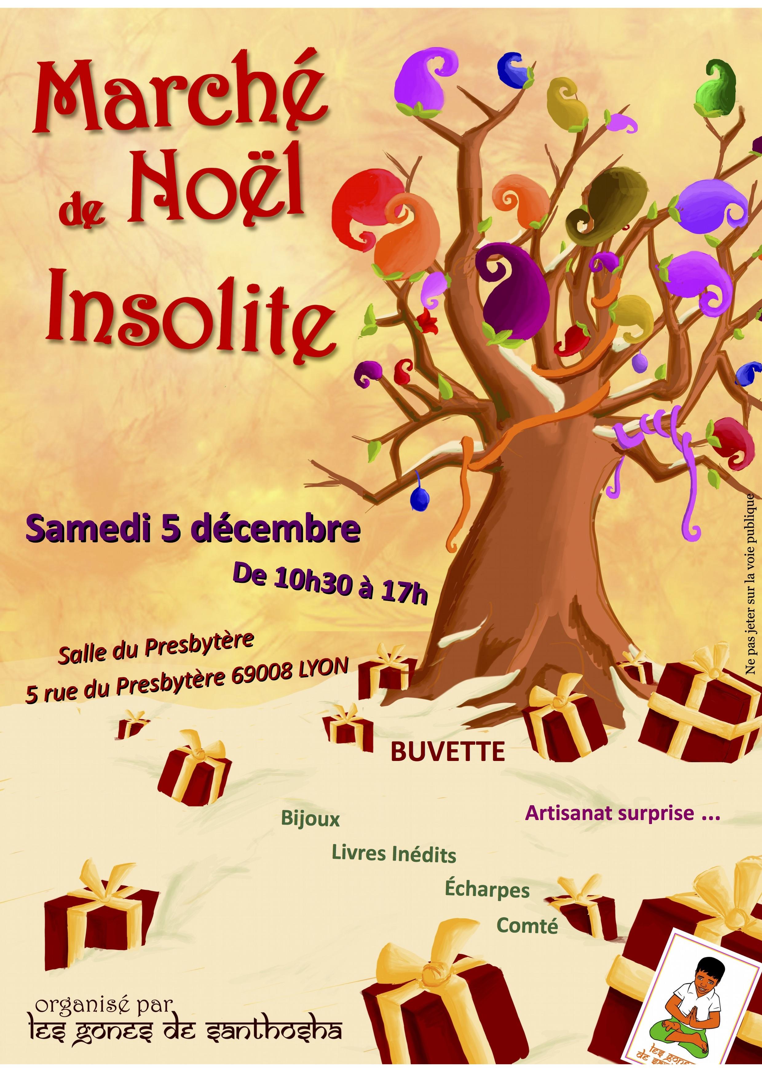 Marché de Noël insolite avec l'association Les Gones de Santhosha