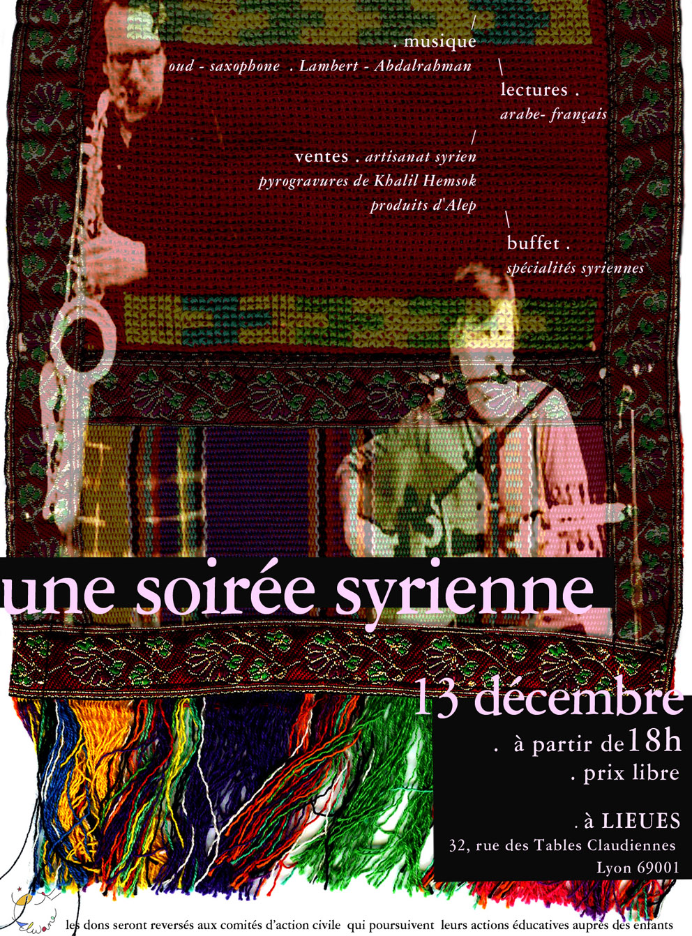 SOIREE SYRIENNE A L'ESPACE LIEUES  Duo Lambert Abd Alrahman oud et saxophone