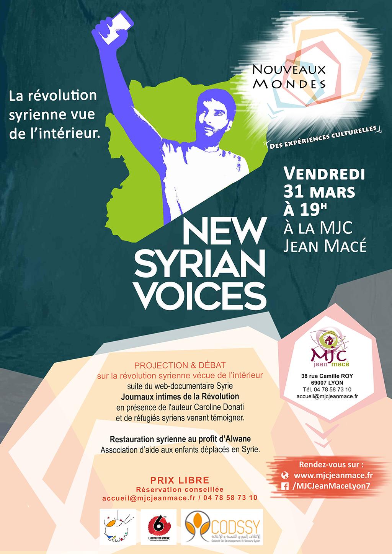 """""""New Syrian Voices"""" Projection-débat avec Caroline Donati"""