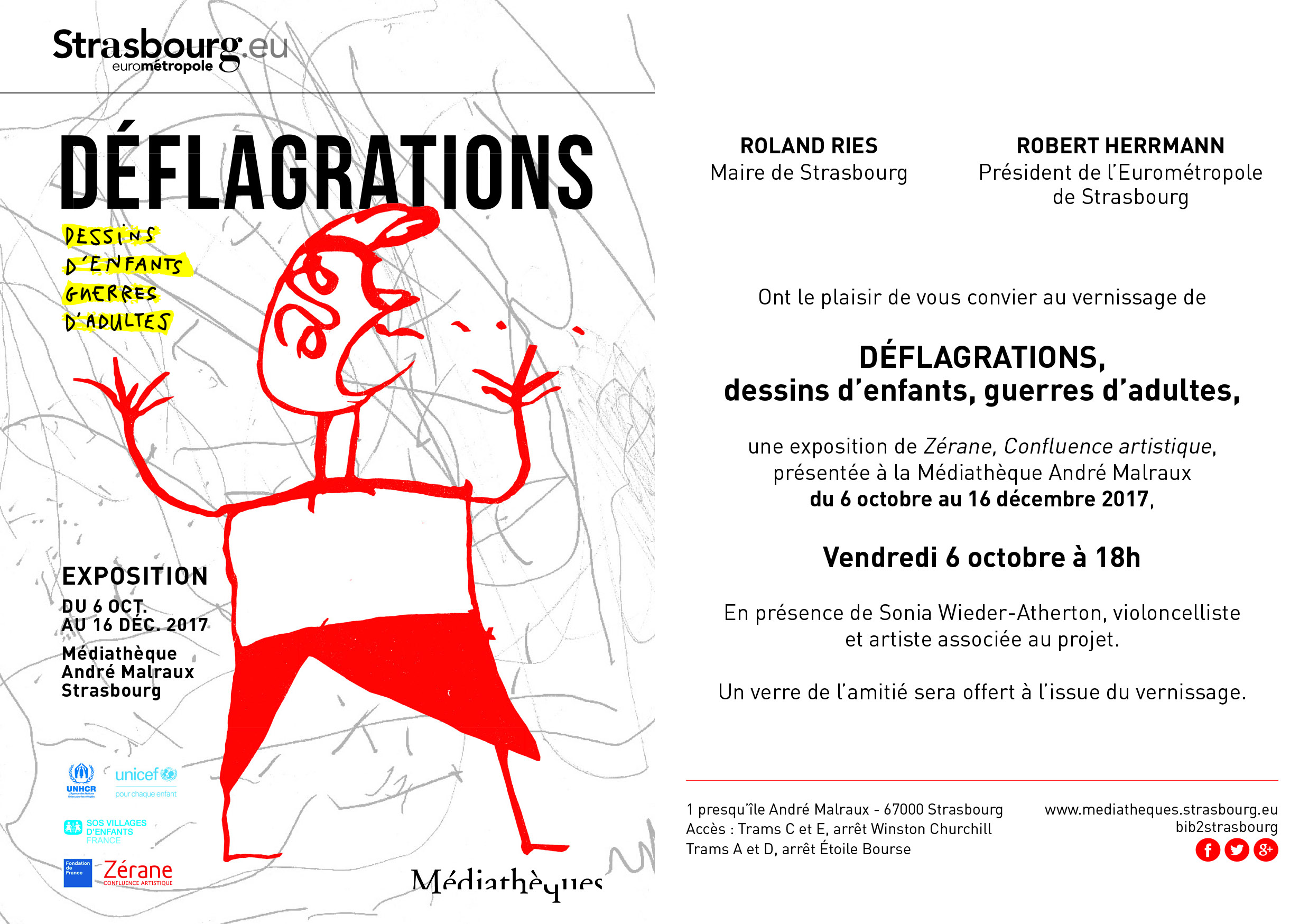 "Vernissage Exposition ""Déflagrations"""