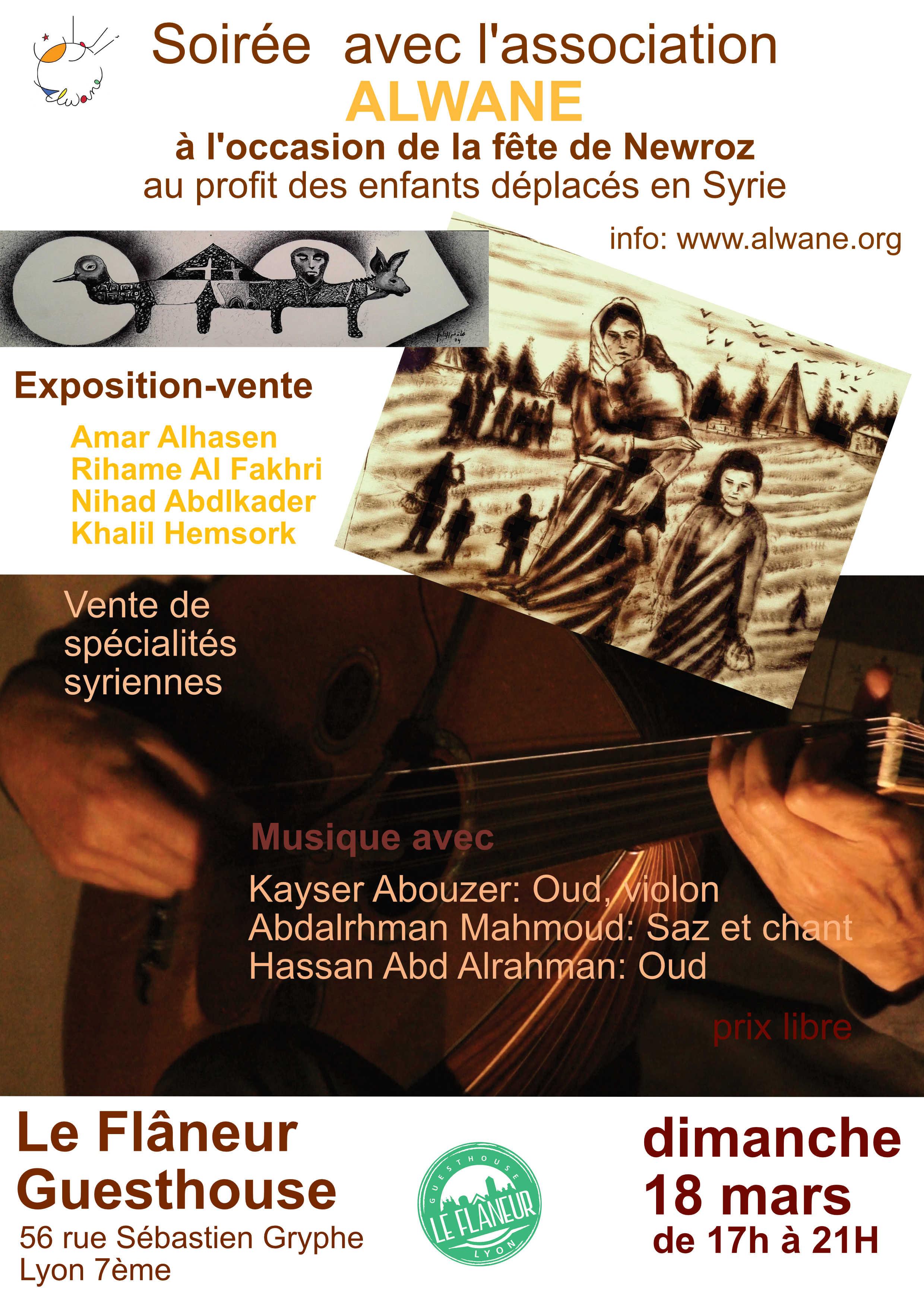 Soirée Exposition-Concert à l'occasion de la Fête de Newroz