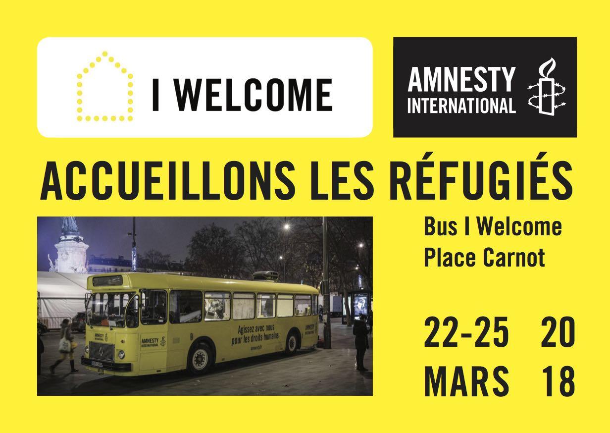 Bus I welcome Amnesty International du 22 au 25 mars