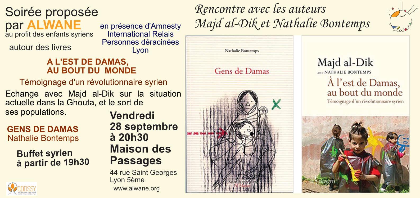 Rencontre avec les auteurs Majd al Dik et Nathalie Bontemps