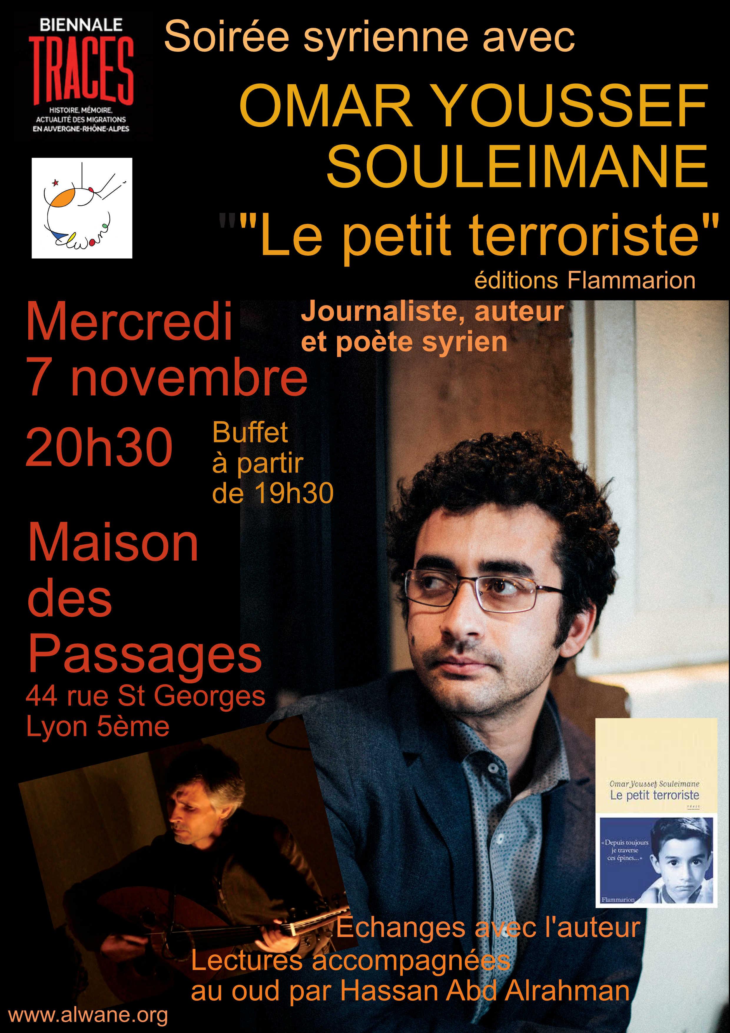 Une soirée avec Omar Youssef Souleimane, journaliste, auteur et poète syrien