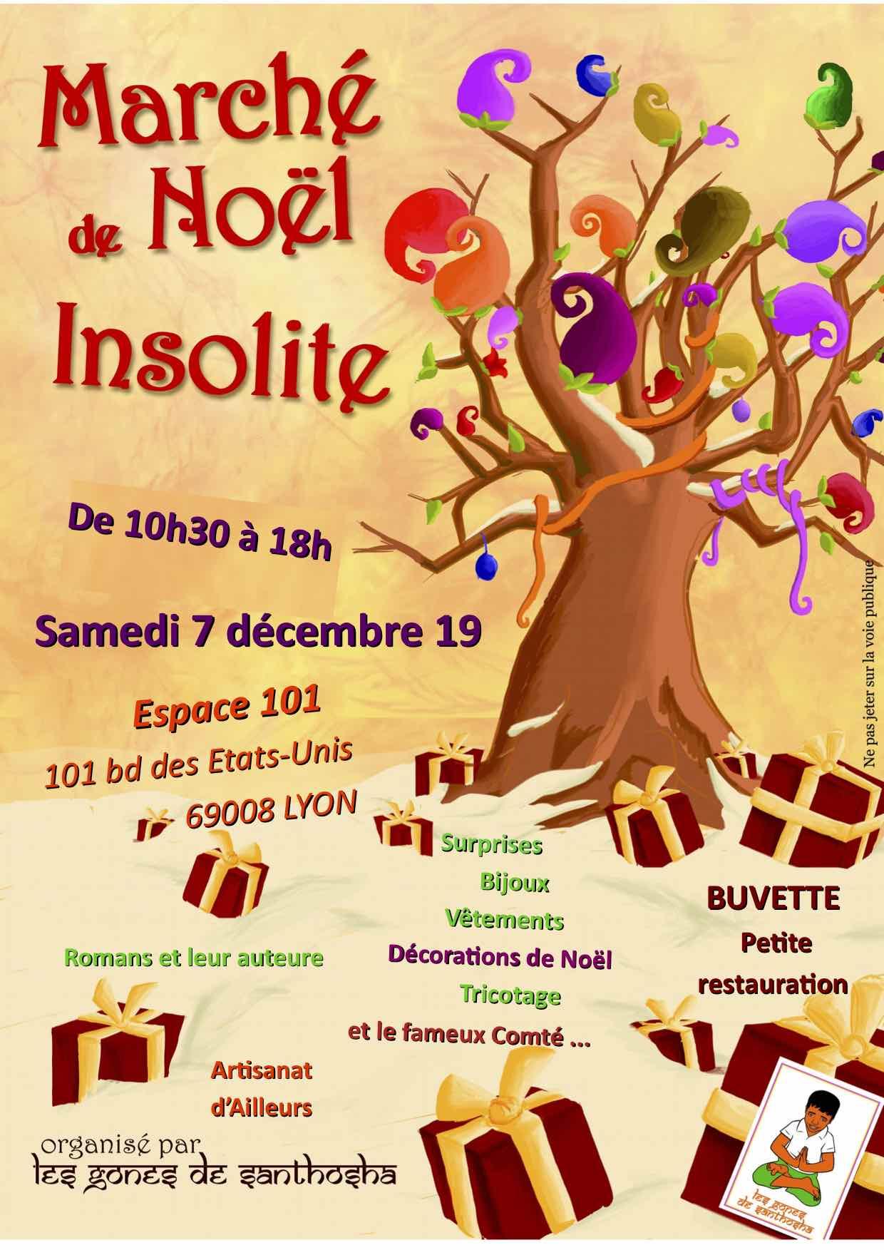 """Marché de Noël insolite avec l'association """"Les Gones de Santhosha"""""""