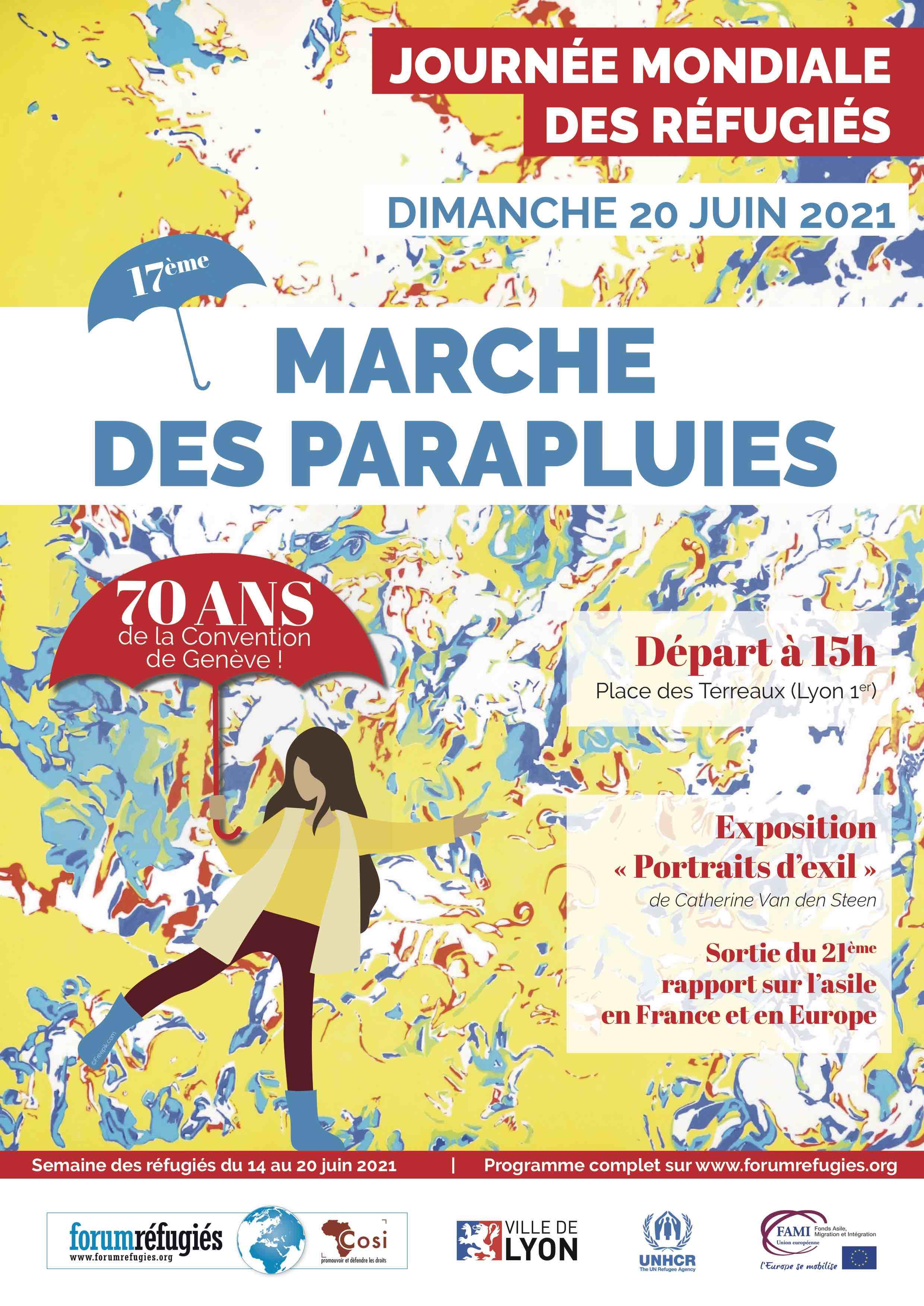 17ème Marche des Parapluies , événement de Forum réfugiés-Cosi